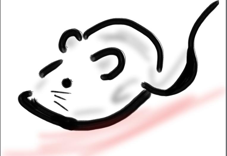 手書きのネズミ